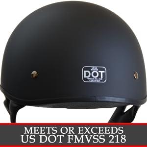 dot certified motorbike helmet by vega helmets comfortable classic fit matte black