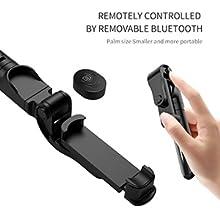 selfie stick tripod bluetooth shutter remote
