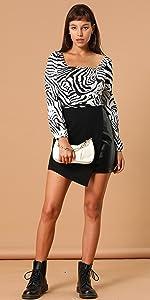 Asymmetrical PU Skirt