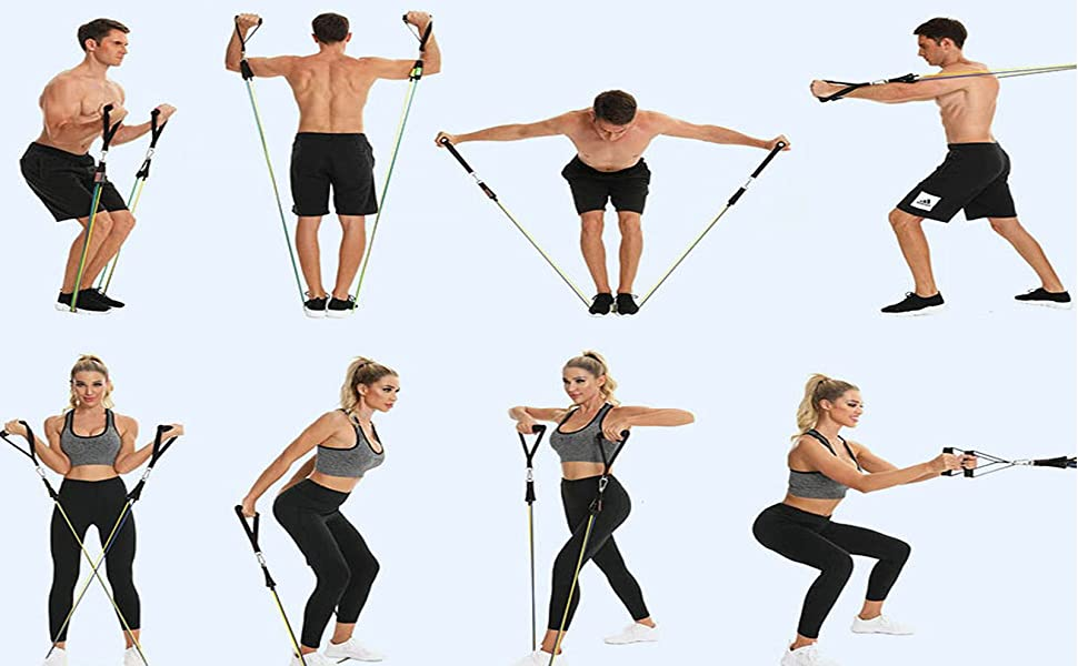 A variety of fitness exercises are available for both men and women