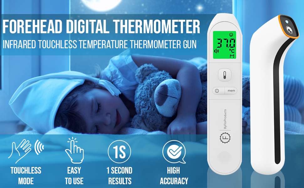 Forehead digital thermometer temperature gun