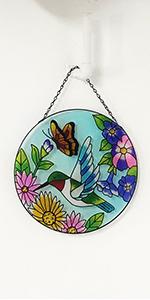 Hummingbird Stained Glass Window Hangings