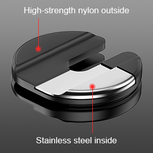Super Durable Frosted Stainless Steel Dumbbell Plate