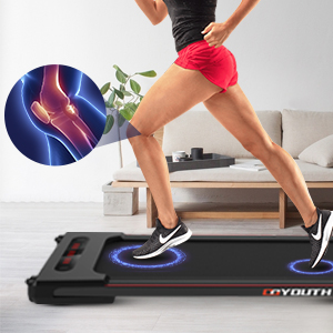 Shock absorption running belt to protect knees