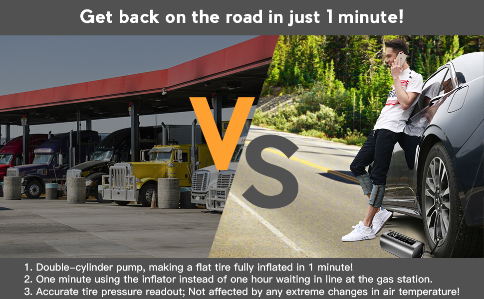 GET BACK ON THE ROAD IN JUST 1 MINUTE