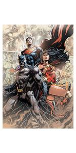 DC Comics Justice League wood wall art