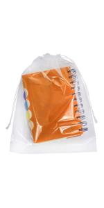 APQ Clear Drawstring Bags