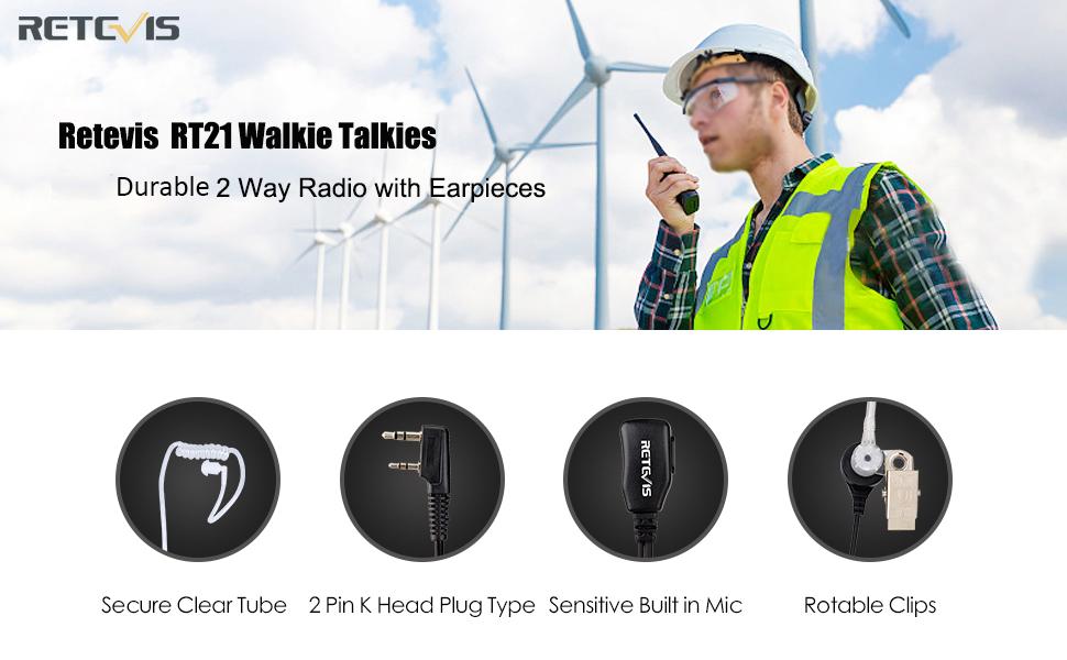 RETEVIS RT21 with earpiece