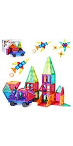 33 PLUMIA Magnetic Tiles for Kids 3D Magnet Building Tiles Set