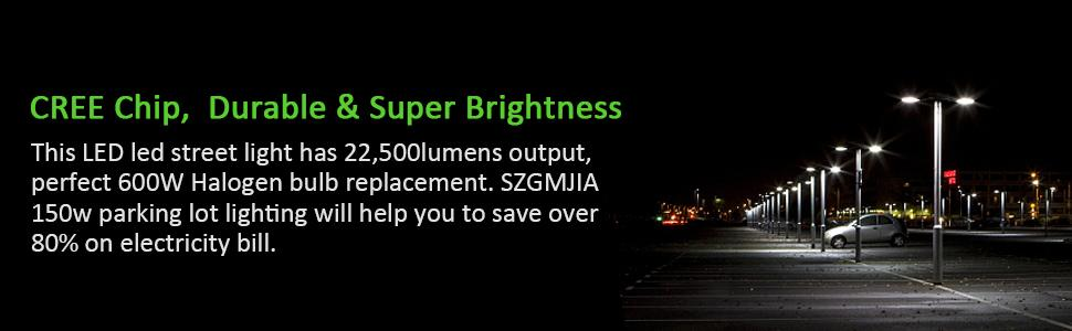 150W LED Parking Lot Lighting, Street Light