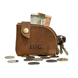 Leather Zipper Pouch, Coin Purse, Cable Organizer, Cash amp; Card Holder