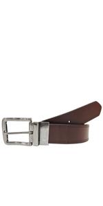 AZ Mens Reversible Belt Genuine Leather Belts for Men Black Brown