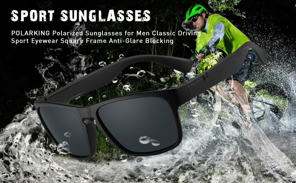 Sport men polarized sunglasses