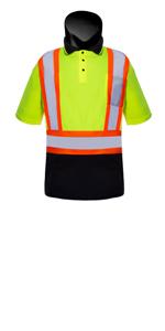 high visibility polo shirt