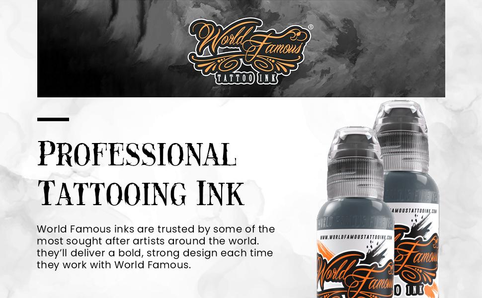 Tattoo Ink Banner Grey