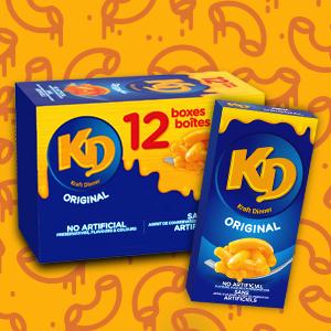 KD, Original Kraft dinner, mac and cheese, macaroni and cheese, Cheesy snack, Kraft dinner