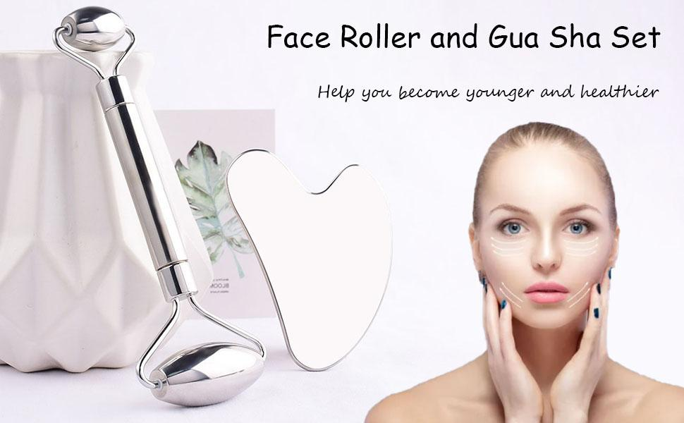 face roller and gua sha