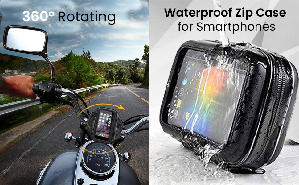 Waterproof phone stand case for bike