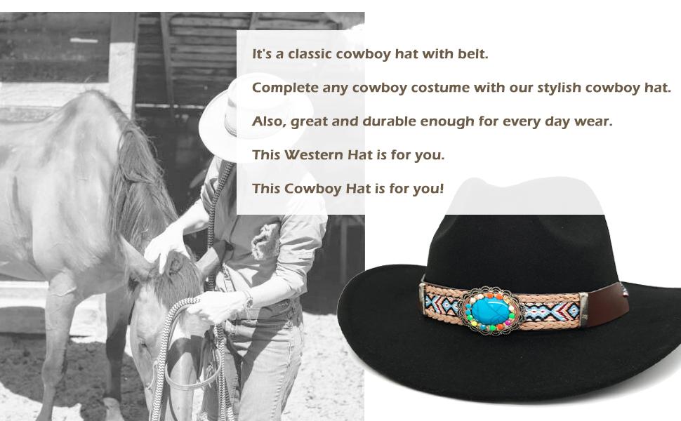 womens felt cowboy hat