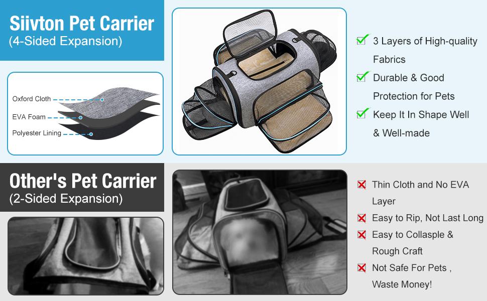 expandable cat carrier