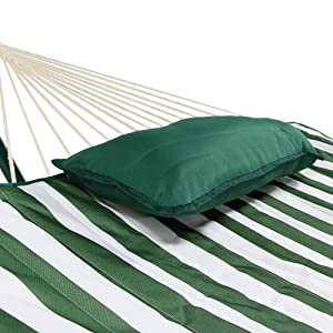 pillow and pad on hammock
