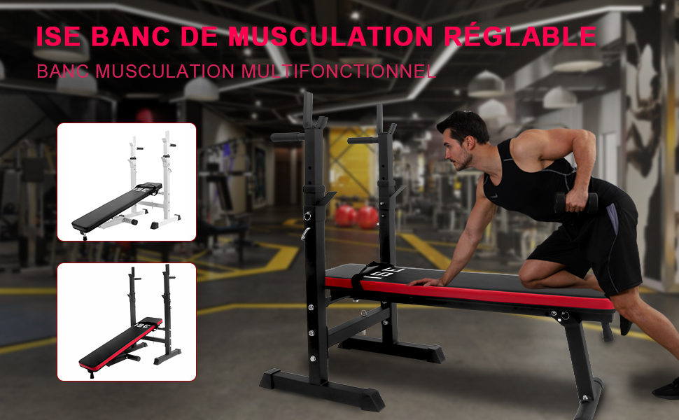 Banc de musculation multifonctionnel réglable