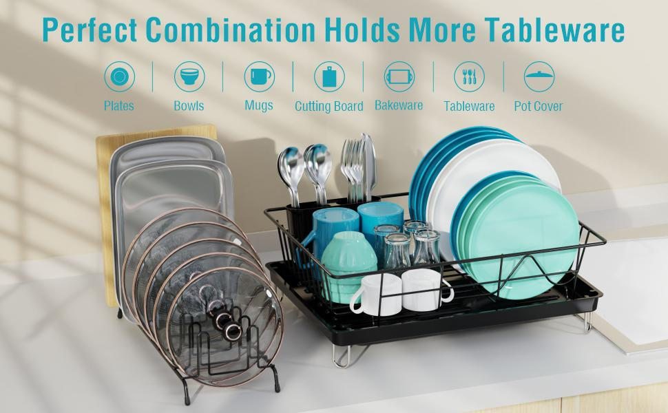 dish drying rack with  lid rack