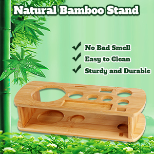 wooden bamboo stand