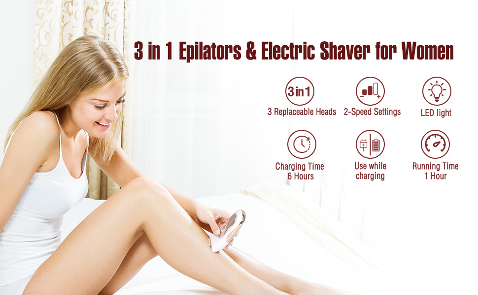 lady shaver electric razor for women electric rotary shaver for women