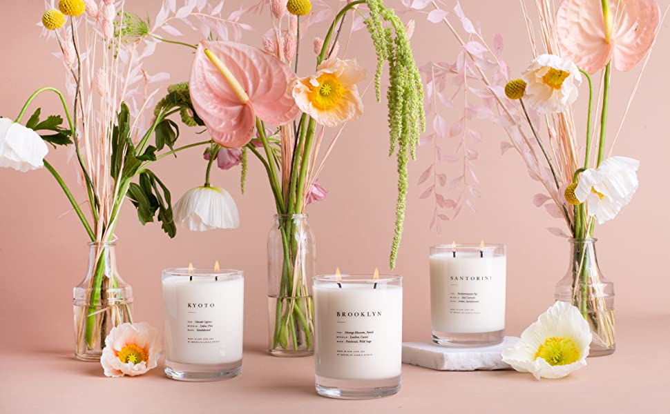 Brooklyn Candle, Santorini Candle, Soy Wax Candle, Scented Candle
