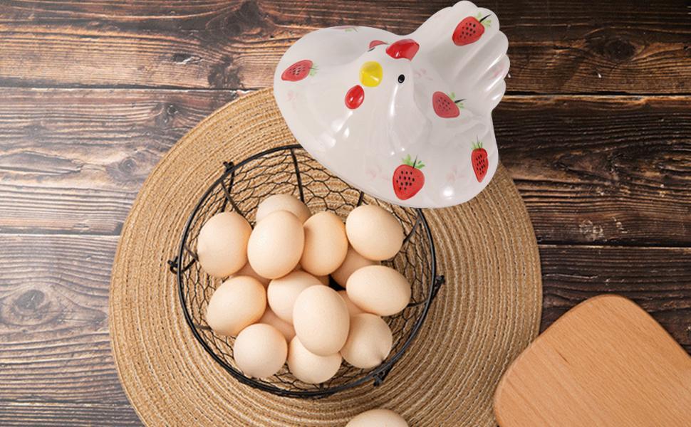 ceramic egg holder