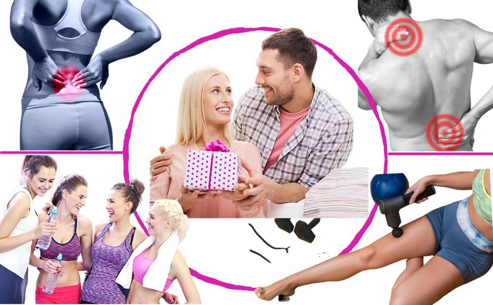 pistolet de massage musculaire ABOX 2021 le vibrateur professionnel idée cadeau femme fete des meres