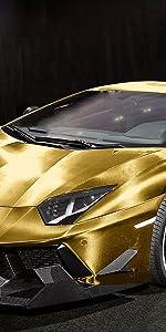 Chrome 3D Carbon Fiber Gold