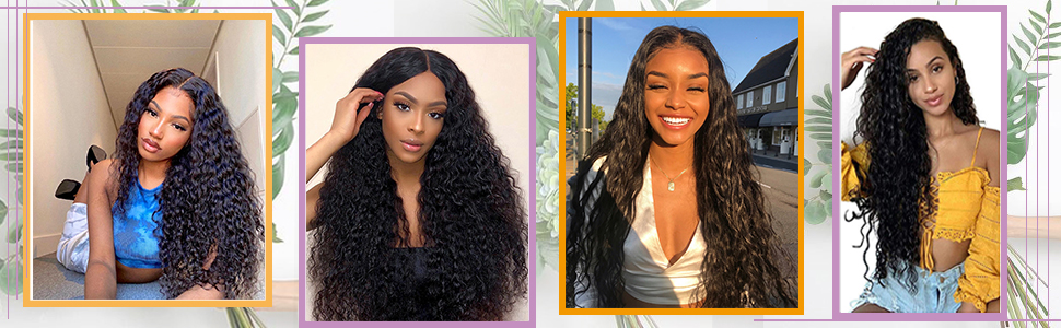 water wave wigs U part wigs human hair wet and wavy wigs