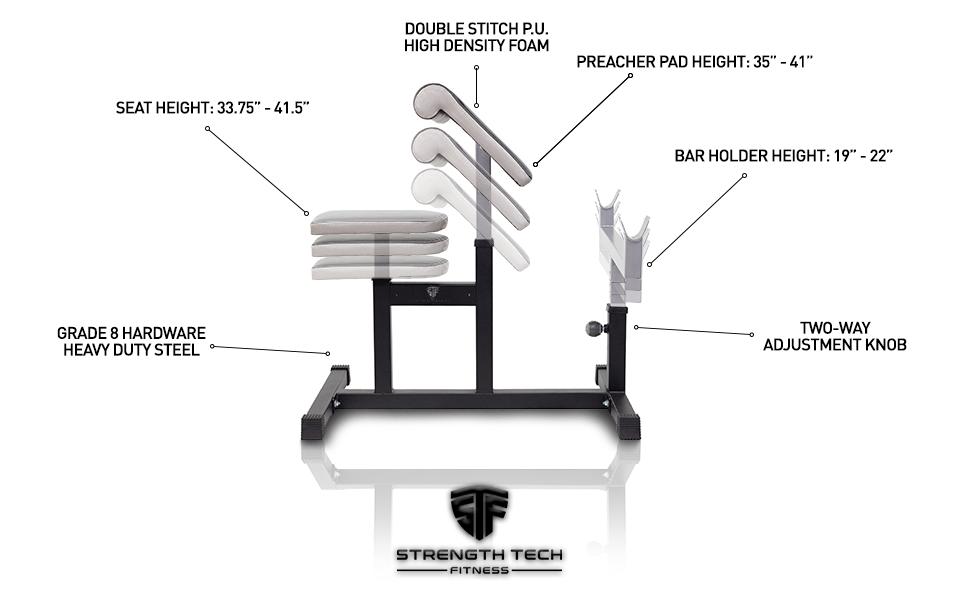 PREACHER BENCH, weight bench