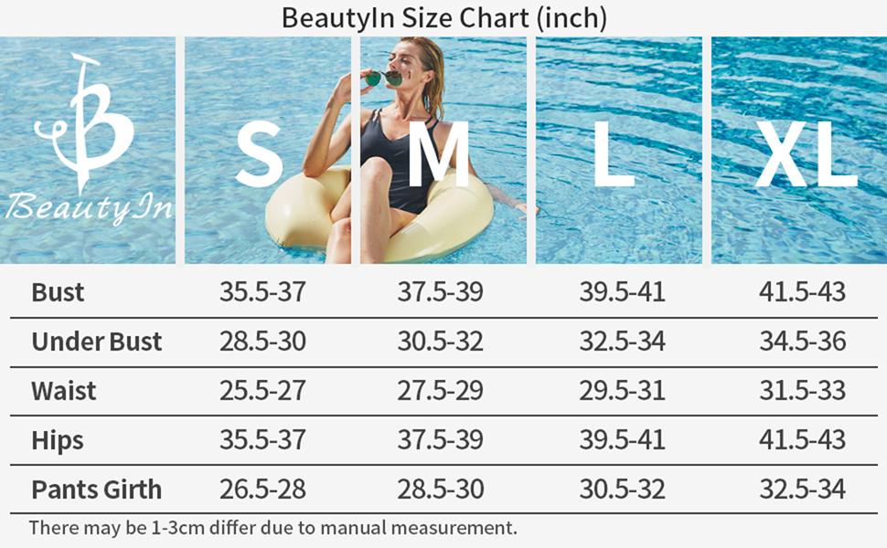 Beautyin size chart