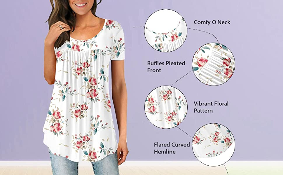 Ruffle top white top Black t shirt o neck top summer clothing for women short sleeve tunic