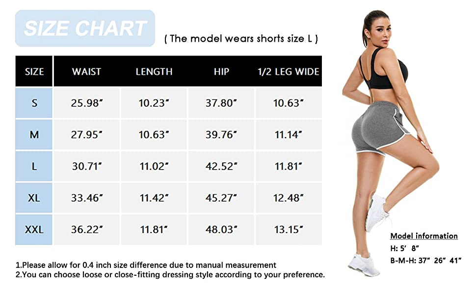 Aloodor Shorts Size Chart