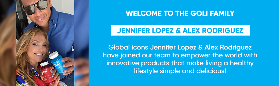 Jennifer Lopez amp; Alex Rodriguez Goli Nutrition ambassadors