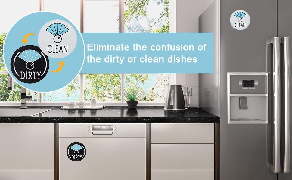 No more guessing,keep track of the dirty or clean dishes.