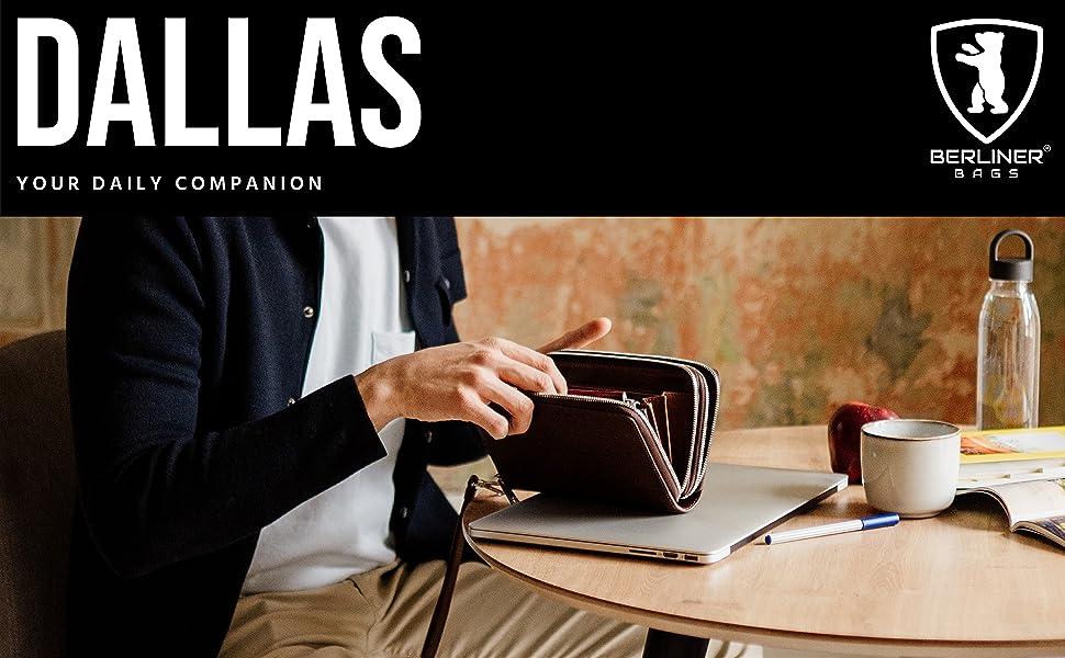 Berliner Bags Premium Leather Wallet Dallas XL