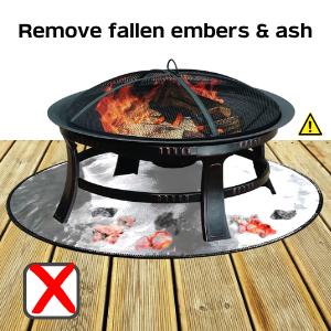 remove embers ash fire pit mat firepad