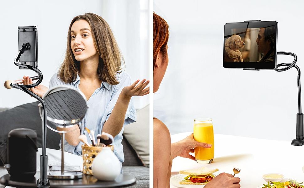 gooseneck phone tablet holder for Live broadcast
