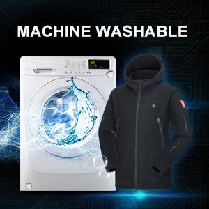 men jacket machine washable