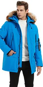 Menamp;#39;s Warm Padded Coat Down Alternative Jacket