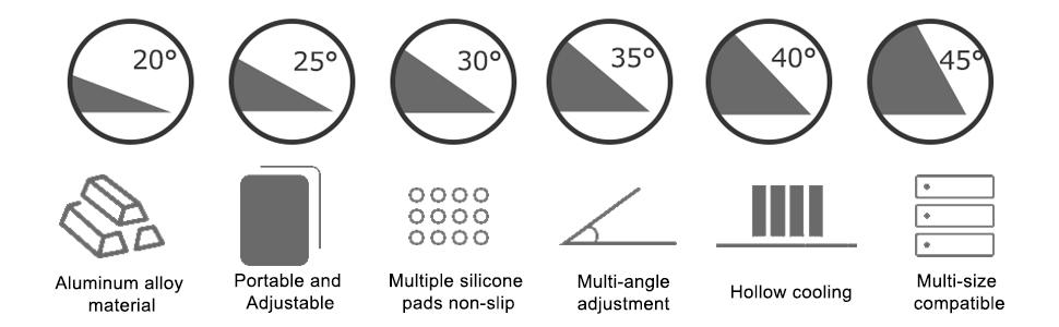 Multi-Angle Adjustable Computer Stand