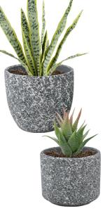 "6"" + 4.7"" ceramic planter pots"