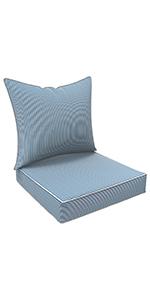 LVTXIII Outdoor/Indoor Deep Seat Cushions, All Weather Deep Seat Chair Cushion Set for Patio Decor