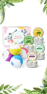 bath bombs and candles set