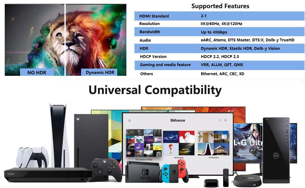 Universal Compatibility (not full list):